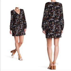 {Wayf} Black Floral Dress